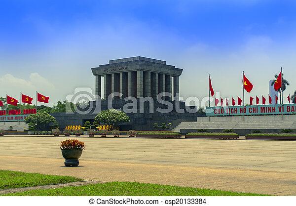 Ho Chi Minh Mausoleum in Hanoi. - csp20133384