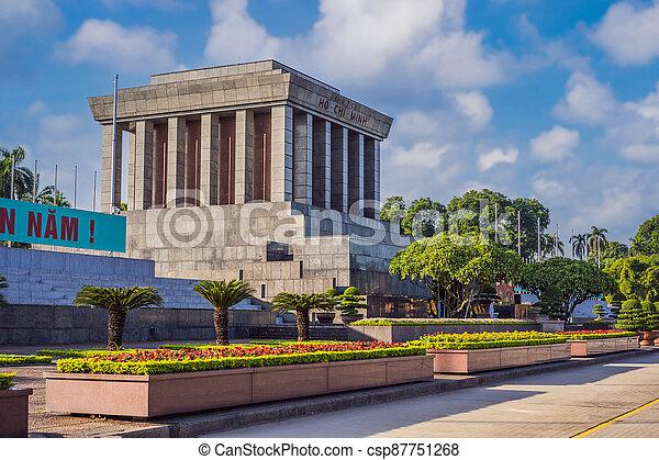 Ho Chi Minh mausoleum in Hanoi, Vietnam - csp87751268