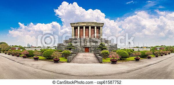 Ho Chi Minh Mausoleum in Hanoi, Vietnam - csp61587752