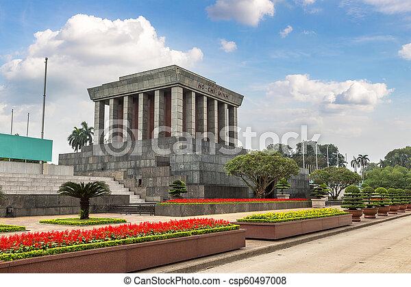 Ho Chi Minh Mausoleum in Hanoi, Vietnam - csp60497008
