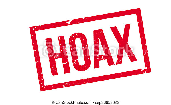 Hoax rubber stamp - csp38653622