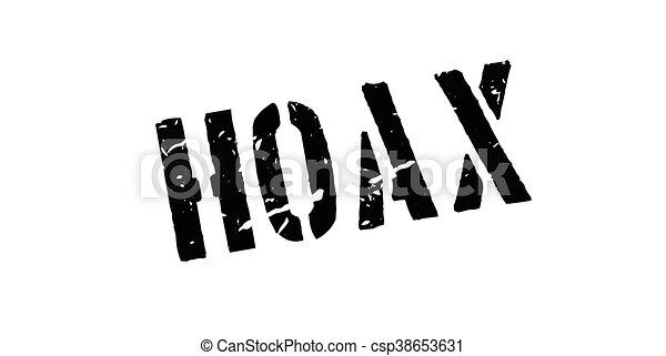 Hoax rubber stamp - csp38653631