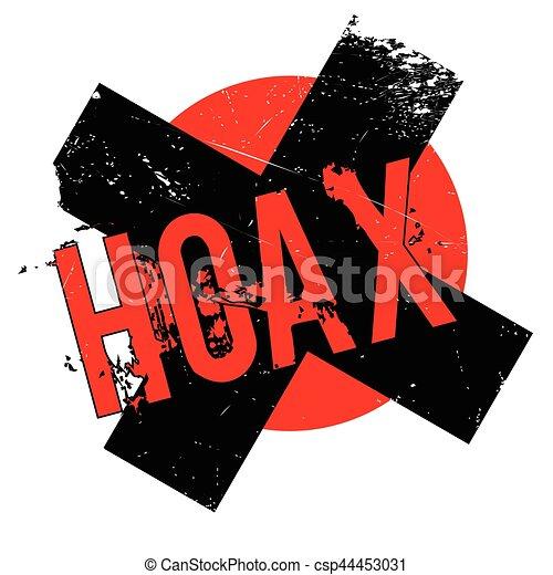 Hoax rubber stamp - csp44453031