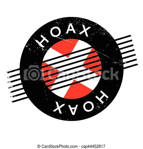 Hoax rubber stamp - csp44452817