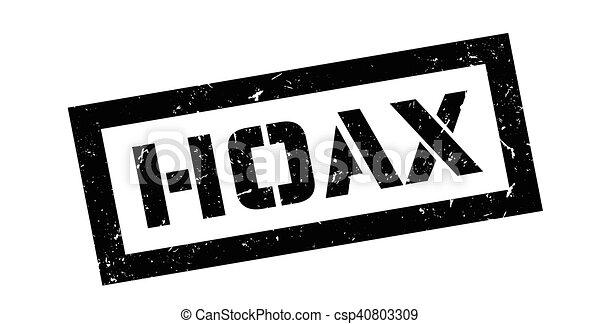 Hoax rubber stamp - csp40803309