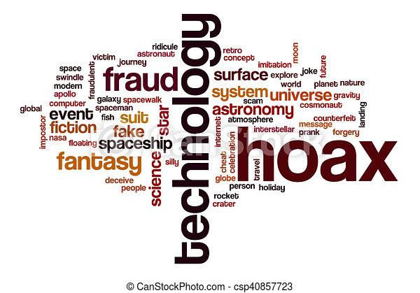Hoax word cloud - csp40857723