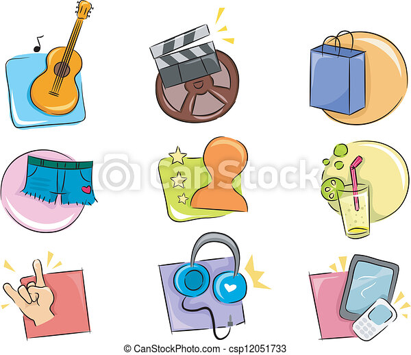 Hobbies and Interests Icon Design Elements - csp12051733