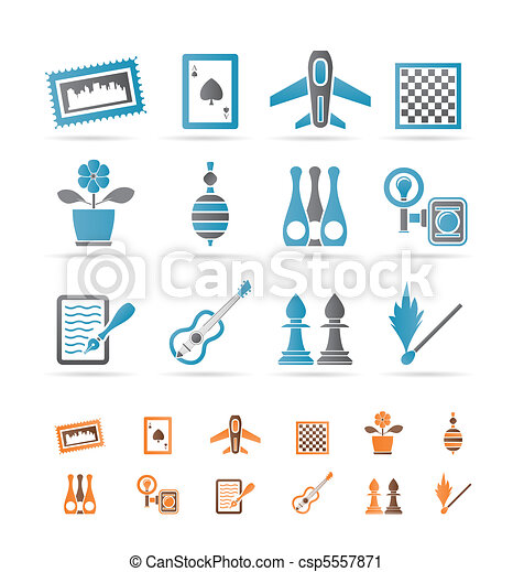 Hobby, Leisure and Holiday objects  - csp5557871