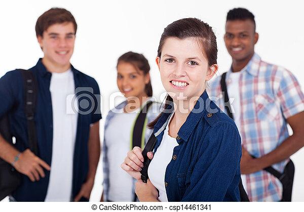 Schüler der High School - csp14461341
