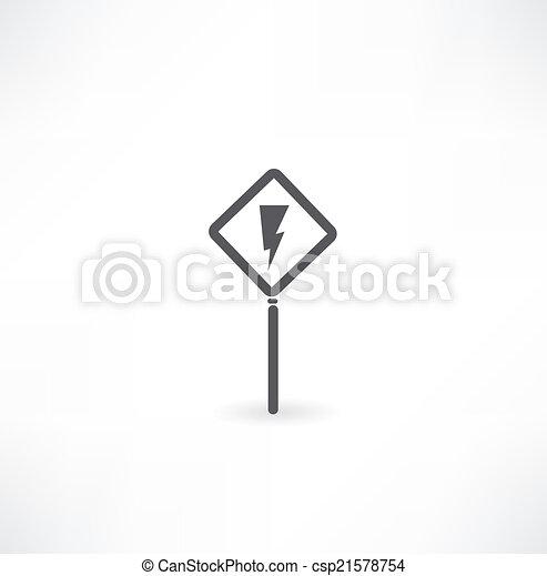 Hoch, zeichen, symbol, spannung.