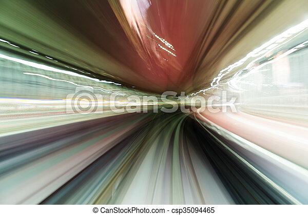 hoch, zug, geschwindigkeit - csp35094465