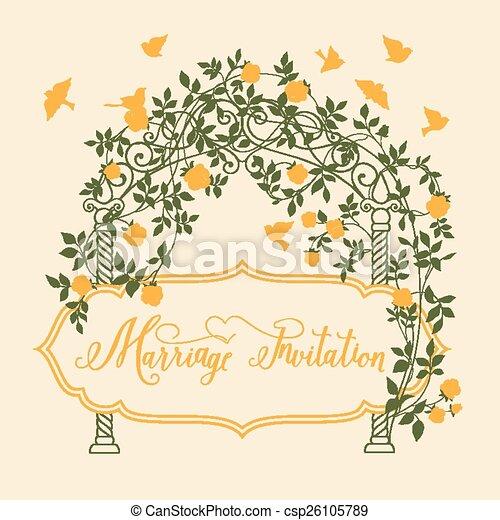 Hochzeit, Card., Einladung   Csp26105789
