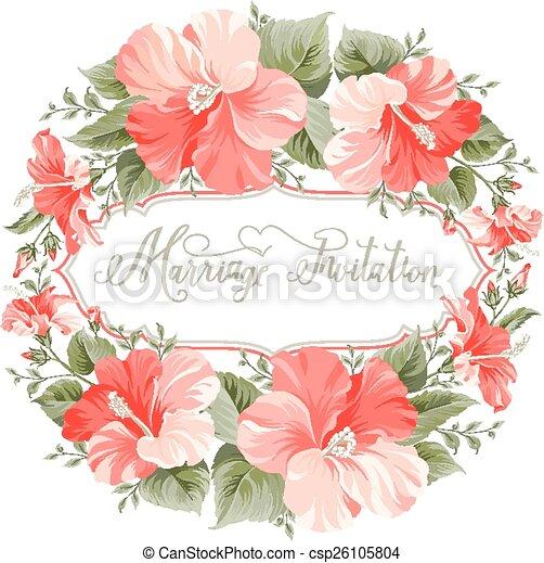 Hochzeit, Card., Einladung   Csp26105804