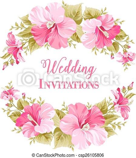 Hochzeit, Card., Einladung   Csp26105806