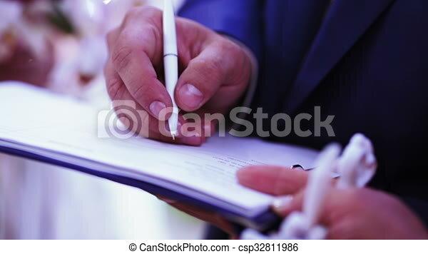 Hochzeit Vertrag Zeichen