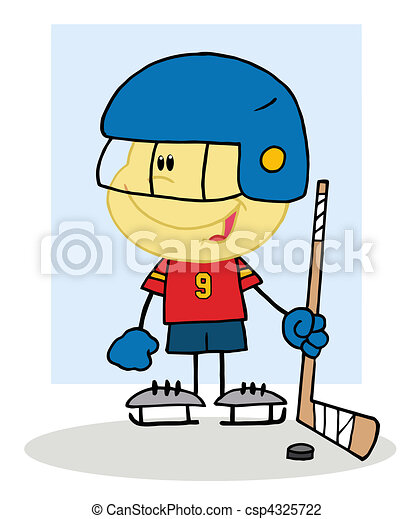Hockey gar on gardien de but jouer gar on peu - Gardien de but dessin ...