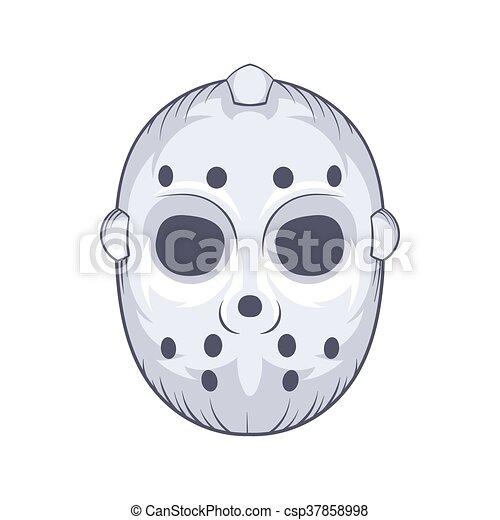 Hockey Goalie Mask Icon Cartoon Style Hockey Goalie Mask Icon In