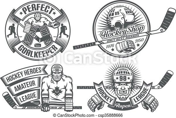 Hockey logo - csp35888666