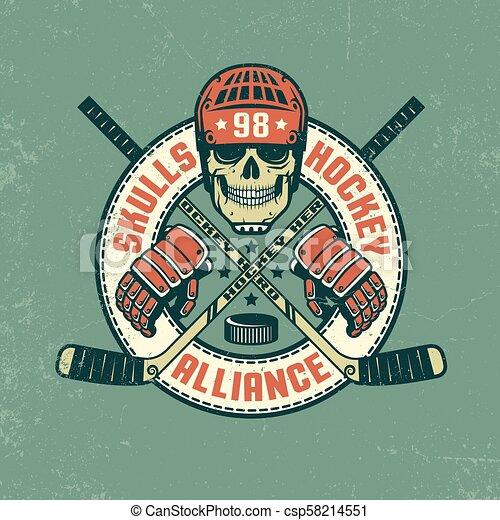 Hockey logo - csp58214551