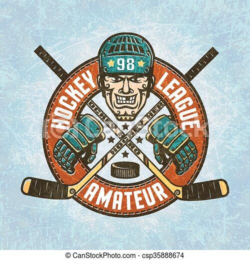 Hockey logo - csp35888674