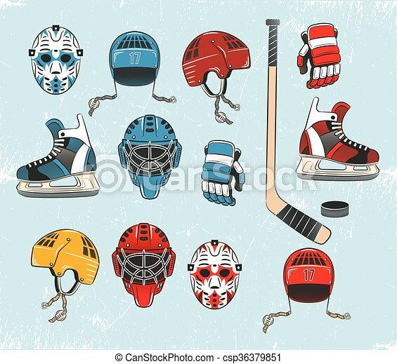 Hockey objects - csp36379851