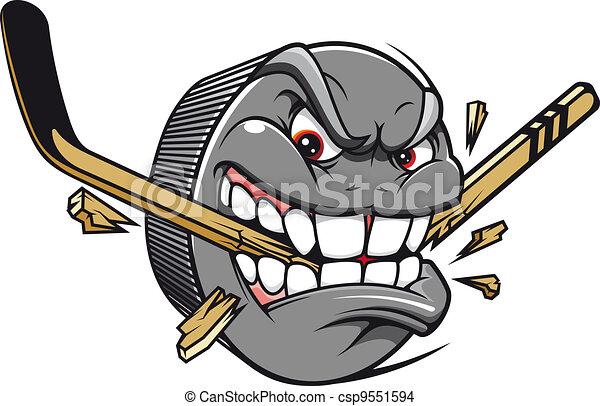 Hockey puck mascot - csp9551594