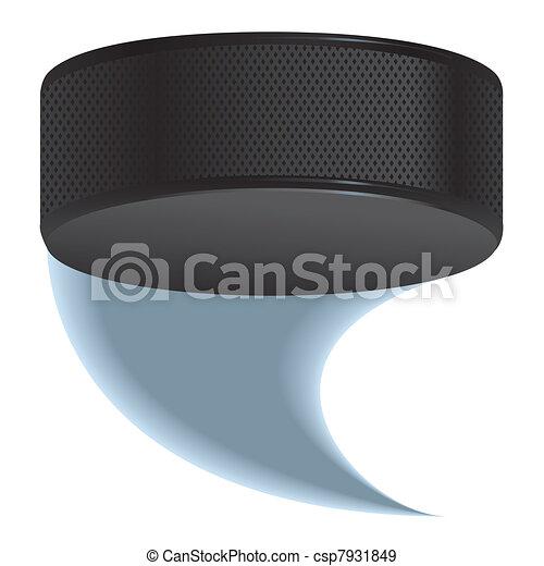 Hockey puck shot - csp7931849