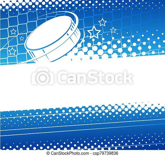 hockey, resumen, plano de fondo - csp79739836