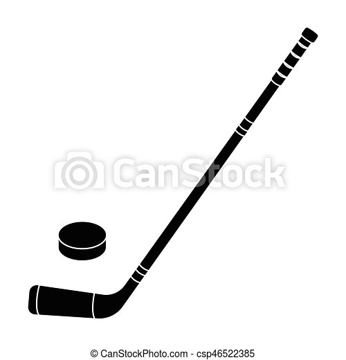 hockey stick and washer canada single icon in black style vector rh canstockphoto com field hockey stick vector hockey stick vector image