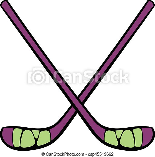 hockey sticks icon icon cartoon hockey sticks icon in icon in rh canstockphoto com clipart hockey sticks hockey stick clipart