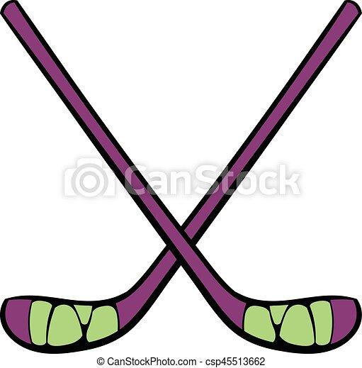 hockey sticks icon icon cartoon hockey sticks icon in icon clip rh canstockphoto co uk hockey stick clipart vector hockey stick clipart black and white
