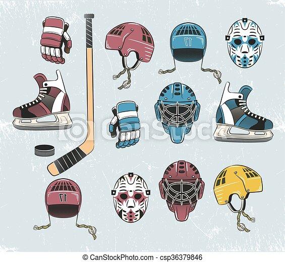 hockey tems color - csp36379846