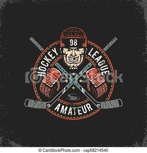 Hockey Vintage logo - csp58214540