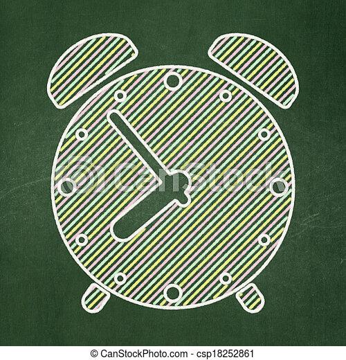 hodiny, timeline, úzkost, tabule, grafické pozadí, concept: - csp18252861