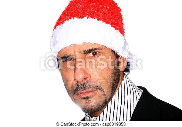 hoedje, kerstman, man - csp8019053