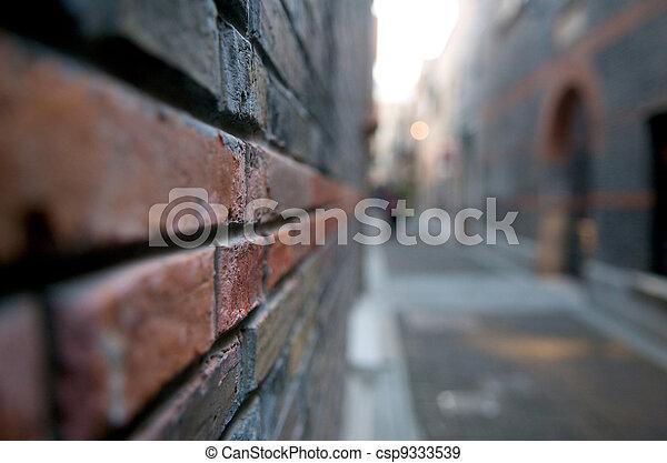 hoek, abstract, straat - csp9333539