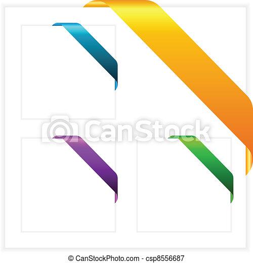 hoek, vector, linten - csp8556687