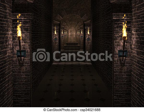 hofburg, korridor - csp34021688
