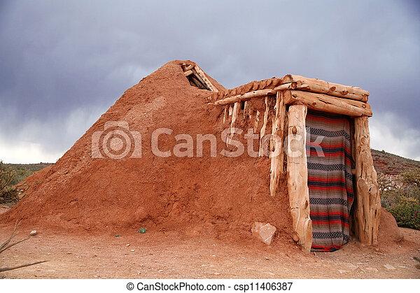 Hogan -Navajo native indian house - csp11406387