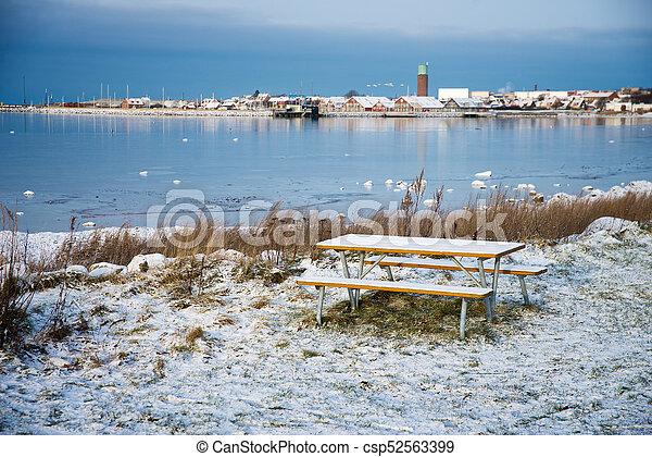 Hoganas in winter - csp52563399