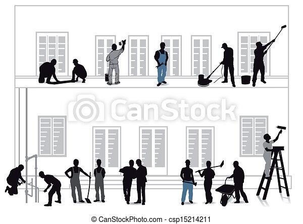 Los artesanos mejoran el hogar - csp15214211