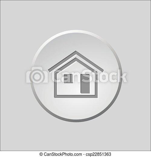 Botón a casa - csp22851363