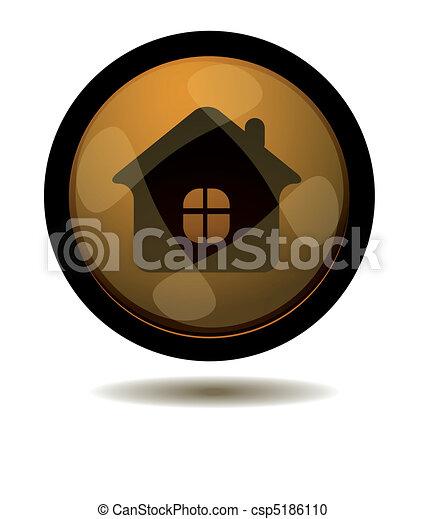 Botón a casa - csp5186110