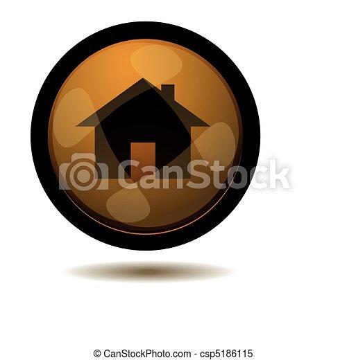 Botón a casa - csp5186115