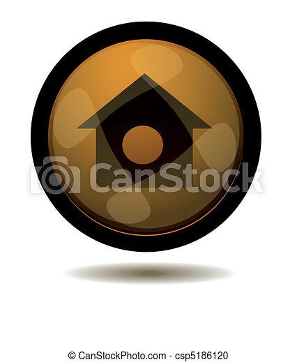 Botón a casa - csp5186120