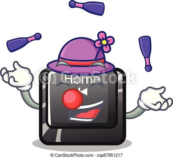 Botón de mala muerte en forma de dibujos animados - csp67951217
