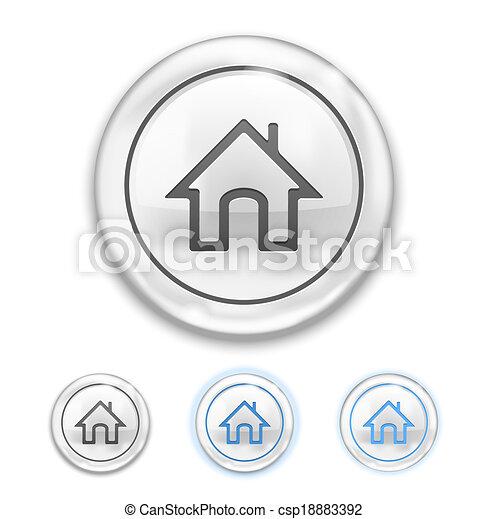 icono de casa en el botón - csp18883392