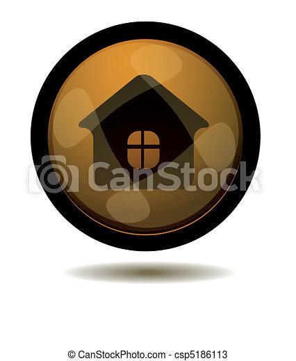 Botón a casa - csp5186113