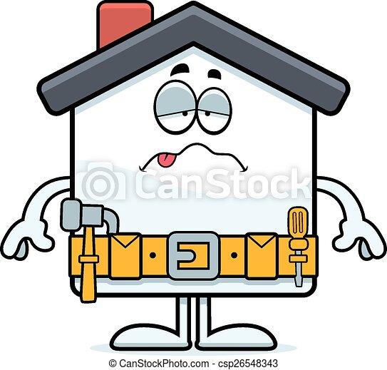 Enferma mejora de casa de dibujos animados - csp26548343