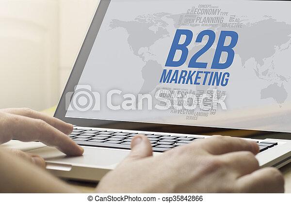 El concepto de marketing de B2c de computación - csp35842866